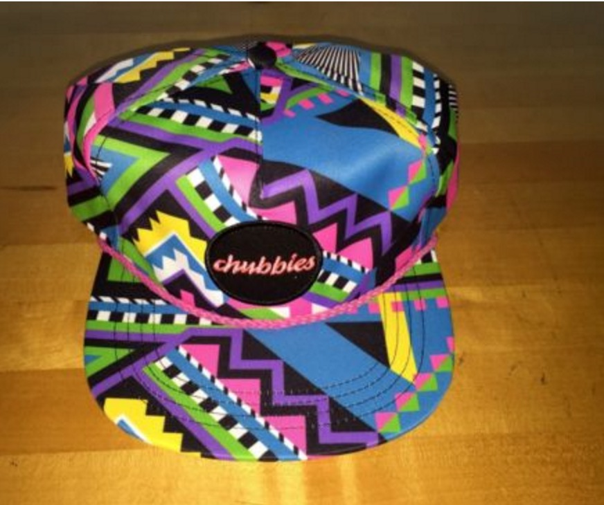 Hat which was made in partnership with Chubbies.