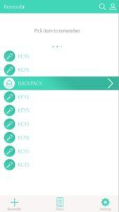 Item Picking Screen